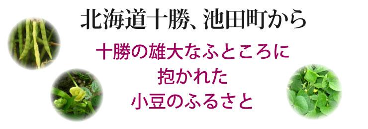 北海道十勝、池田町から十勝の雄大なふところに抱かれた小豆のふるさと
